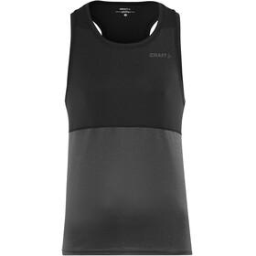 Craft Eaze Hardloopshirt zonder mouwen Heren grijs/zwart